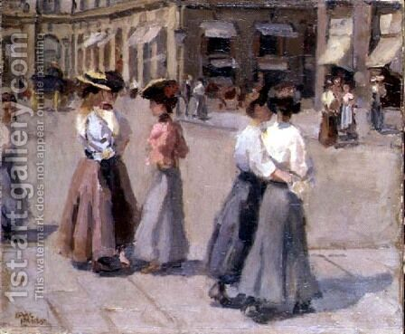 An Afternoon Stroll by Isaac Israels - Reproduction Oil Painting