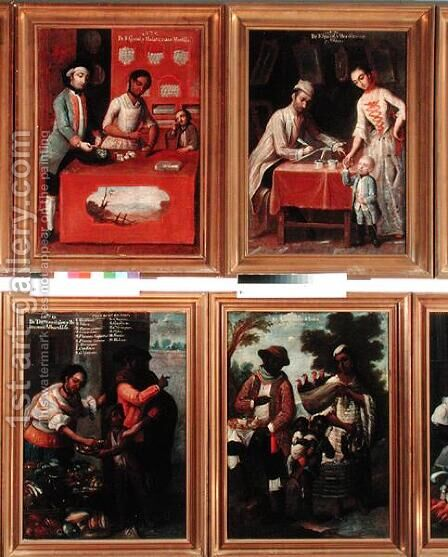 Four Different Racial Groups by Andres de Islas - Reproduction Oil Painting