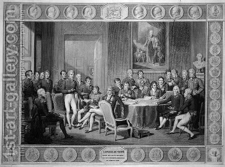 Congress of Vienna by (after) Isabey, Jean-Baptiste - Reproduction Oil Painting