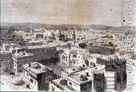 Jerusalem in the 1860s by (after) Huyot, Jean Georges - Reproduction Oil Painting