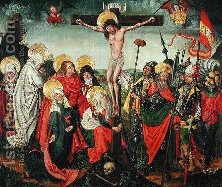 Crucifixion by (attr.to) Huter, Urbanus - Reproduction Oil Painting