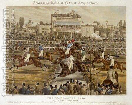 The Royal Birthday Stakes Worcester by Charles Hunt - Reproduction Oil Painting