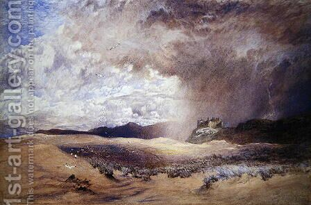 Harlech Castle by Alfred William Hunt - Reproduction Oil Painting