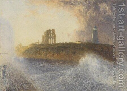 Tynemouth Pier North East Wind by Alfred William Hunt - Reproduction Oil Painting