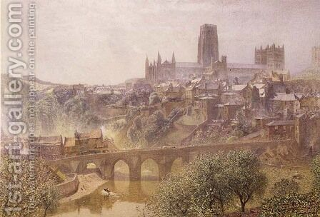 Elvet Bridge Durham by Alfred William Hunt - Reproduction Oil Painting