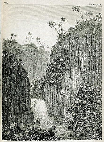 Cascade of Regla near Mexico by (after) Humboldt, Friedrich Alexander, Baron von - Reproduction Oil Painting