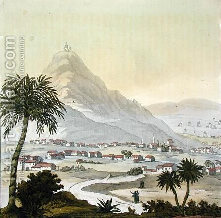 A view of the township of Lima Peru by (after) Humboldt, Friedrich Alexander, Baron von - Reproduction Oil Painting