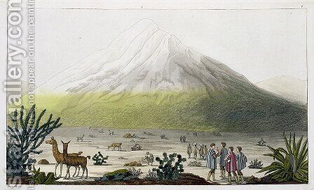 Mount Chimborazo Ecuador by (after) Humboldt, Friedrich Alexander, Baron von - Reproduction Oil Painting