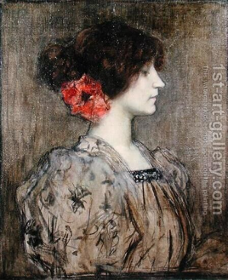 Colette 1873-1954 by Jacques Fernand Humbert - Reproduction Oil Painting