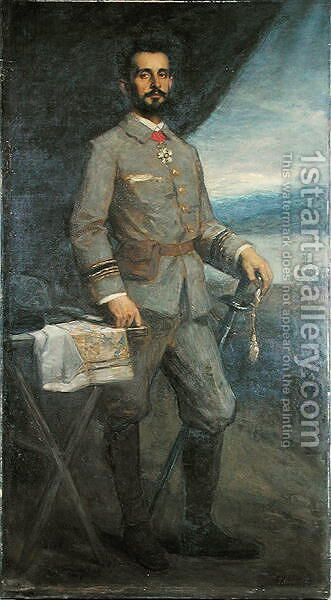 Commander Jean Baptiste Marchand 1863-1934 by Jacques Fernand Humbert - Reproduction Oil Painting