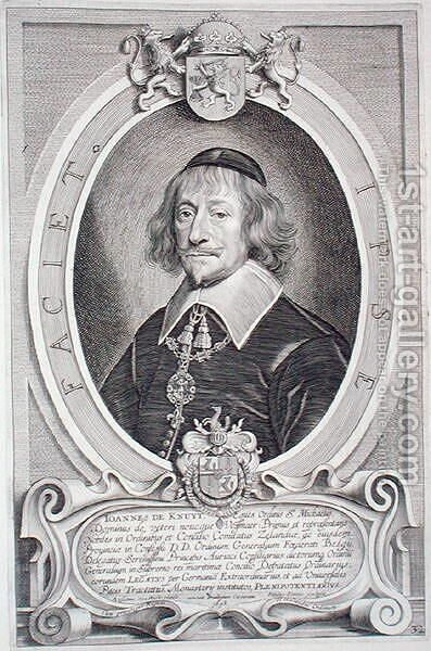 Johann van Knuyt 1587-1654 by (after) Hulle, Anselmus van - Reproduction Oil Painting