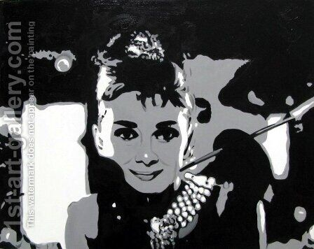 Audrey Hepburn by Pop Art - Reproduction Oil Painting