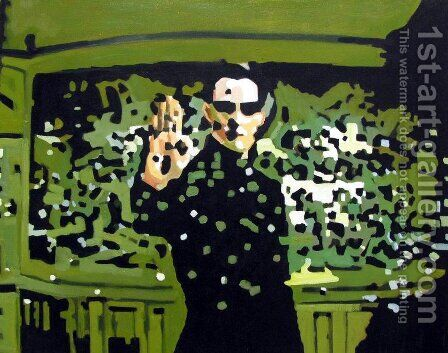 Neo - Matrix - Keanu Reeves by Pop Art - Reproduction Oil Painting