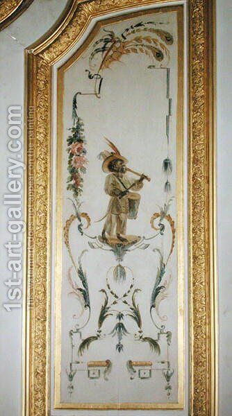 A Monkey Musician from La Grande Singerie by Christophe Huet - Reproduction Oil Painting