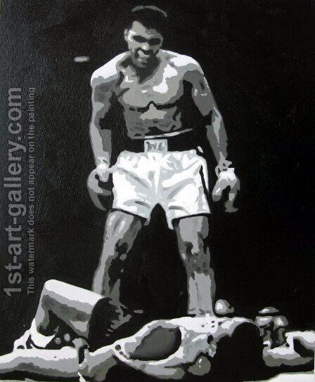 Mohammed Ali by Pop Art - Reproduction Oil Painting