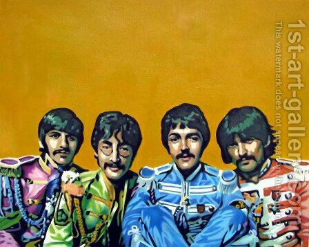 Beatles by Pop Art - Reproduction Oil Painting