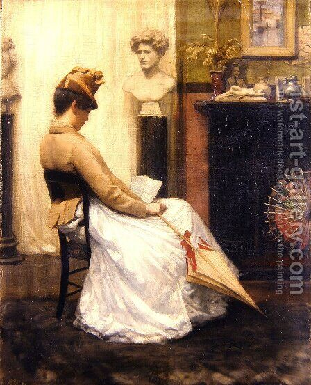 The Letter by Henry John Hudson - Reproduction Oil Painting