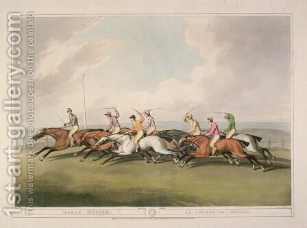 Horse Racing by (after) Howitt, Samuel - Reproduction Oil Painting
