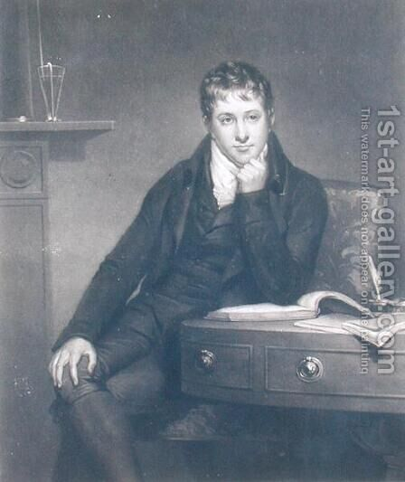 Sir Humphry Davy 1778-1829 by (after) Howard, Henry - Reproduction Oil Painting