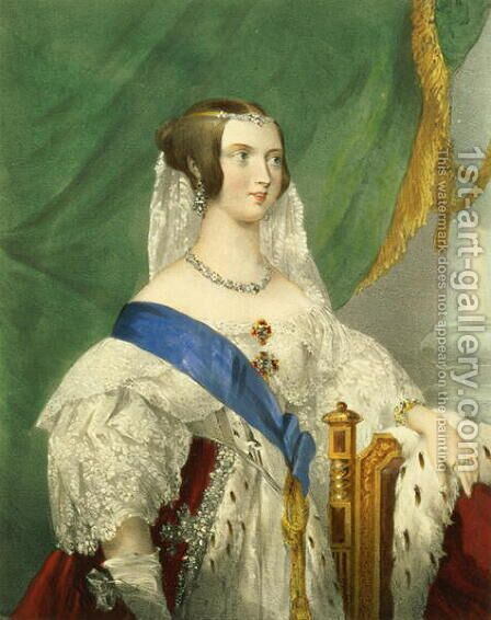 Her Most Gracious Majesty Queen Victoria 1819-1901 by (after) Howard, George - Reproduction Oil Painting