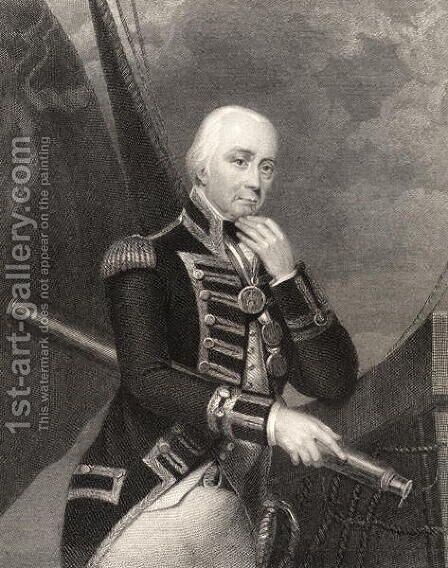 Admiral Lord Cuthbert Collingwood by (after) Howard, Francis - Reproduction Oil Painting