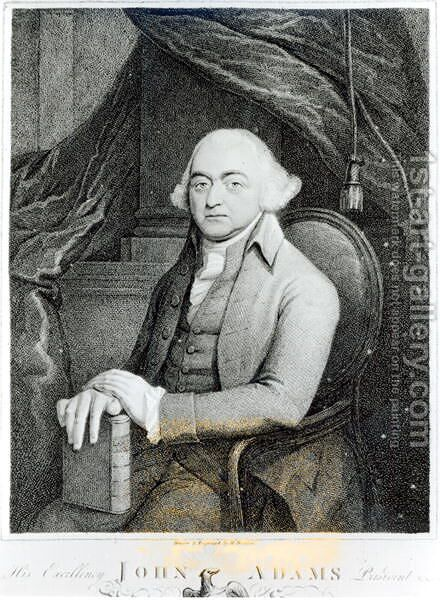 John Adams by H. Houston - Reproduction Oil Painting