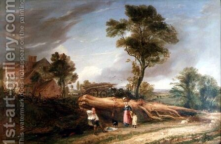 The Woodcutters Lunch by Hopkins Horsley Hobday Horsley - Reproduction Oil Painting