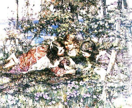 A Summer Idyll by Edward Atkinson Hornel - Reproduction Oil Painting