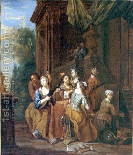 Musical Party by Jan Jozef, the Younger Horemans - Reproduction Oil Painting