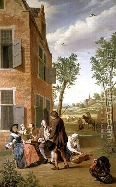 Figures in a Landscape by Jan Jozef, the Younger Horemans - Reproduction Oil Painting