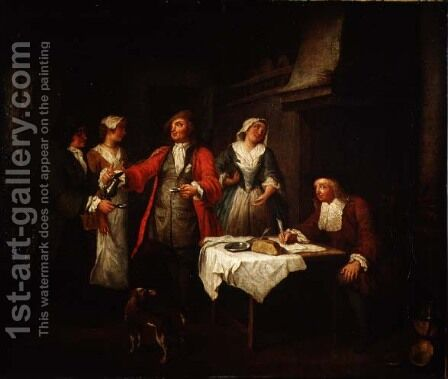 The Marriage Contract by Jan Josef, the Elder Horemans - Reproduction Oil Painting