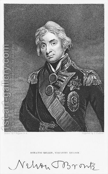 Portrait of Admiral Horatio Nelson with his signature by (after) Hoppner, John - Reproduction Oil Painting
