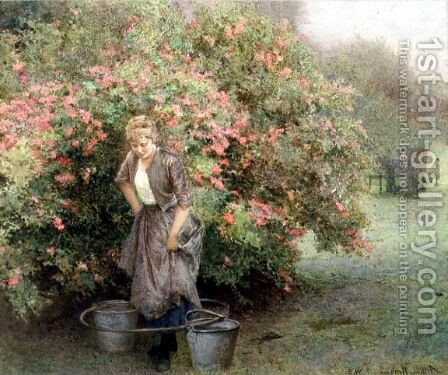 The Well by the Maytree by Arthur Hopkins - Reproduction Oil Painting