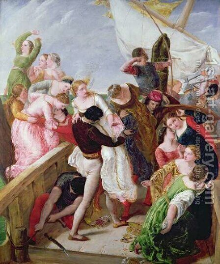 The Rescue of the Brides of Venice by James Clarke Hook - Reproduction Oil Painting