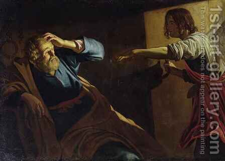 St Peter Released from Prison by (after) Honthorst, Gerrit van - Reproduction Oil Painting
