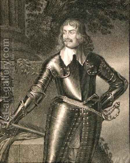 William Earl of Craven 1606-1697 from Lodges British Portraits by (after) Honthorst, Gerrit van - Reproduction Oil Painting