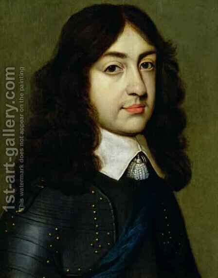 Portrait of Charles II 1630-85 by (after) Honthorst, Gerrit van - Reproduction Oil Painting