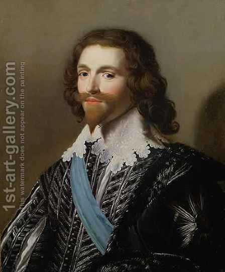 Portrait of George Villiers by (after) Honthorst, Gerrit van - Reproduction Oil Painting