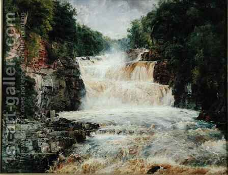 Swallow Falls Bettws y Coed North Wales by Edwin Frederick Holt - Reproduction Oil Painting