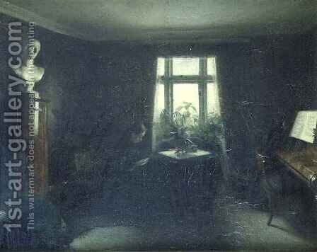 Interior by Carl Vilhelm Holsoe - Reproduction Oil Painting