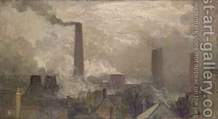 Wood Lane Power Station by Charles Holmes - Reproduction Oil Painting