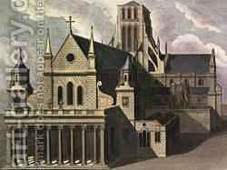 South side of Old St Pauls Cathedral by (after) Hollar, Wenceslaus - Reproduction Oil Painting