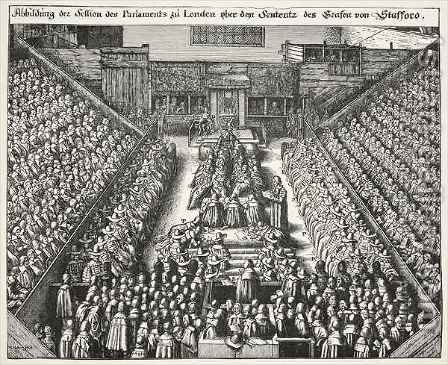 Trial of Strafford by (after) Hollar, Wenceslaus - Reproduction Oil Painting