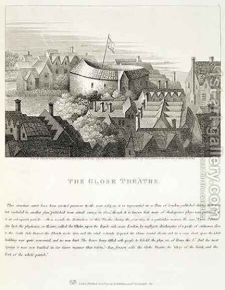 The Globe Theatre by (after) Hollar, Wenceslaus - Reproduction Oil Painting