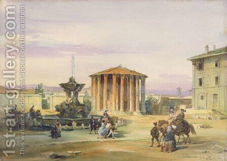 The Temple of Vesta Rome by James Holland - Reproduction Oil Painting