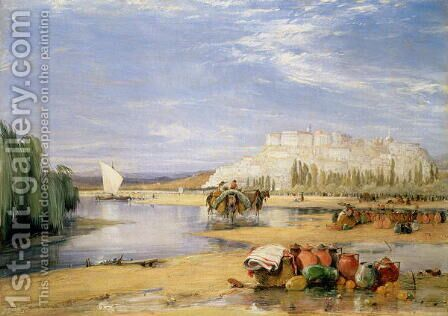 View of Coimbra Portugal by James Holland - Reproduction Oil Painting