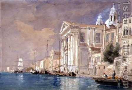 Church of the Gesuati Venice by James Holland - Reproduction Oil Painting
