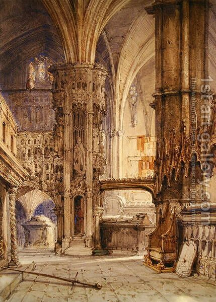The Cathedral at Auch by James Holland - Reproduction Oil Painting