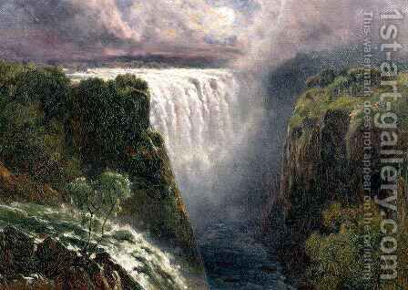 A View of Victoria Falls by Edward Henry Holder - Reproduction Oil Painting