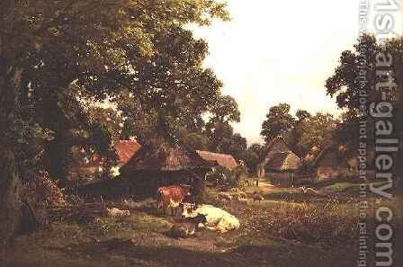 A Cottage Home in Surrey by Edward Henry Holder - Reproduction Oil Painting